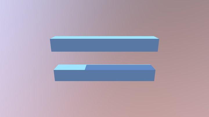 Blue Equal Sign 3D Model