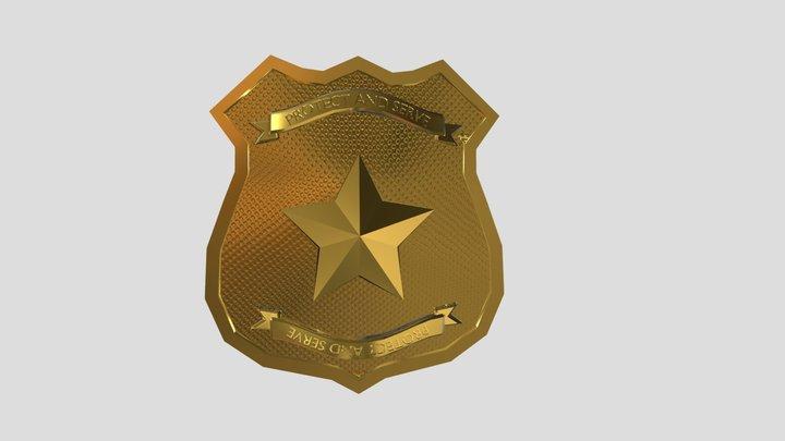 Police Badge 3D Model