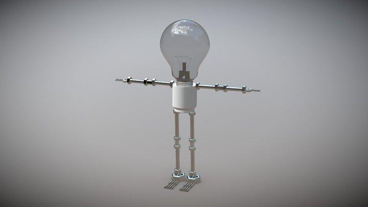 LIGHT BULB MAN 3D Model