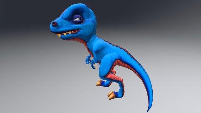 Dinosaur_toon_WIP 3D Model