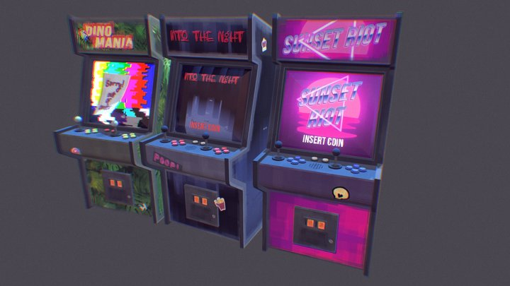 Game Arcade Boxes 3D Model