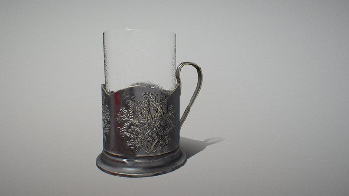 Cup with holder 3D Model