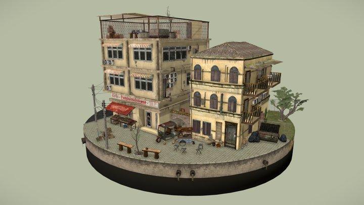 Bangkok City Scene 3D Model