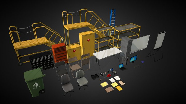 Hangar Misc 3D Model