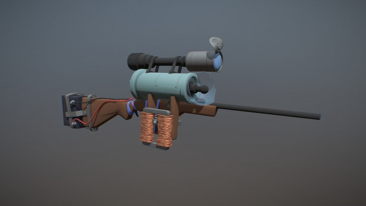 Day-4 | Rifle 3D Model