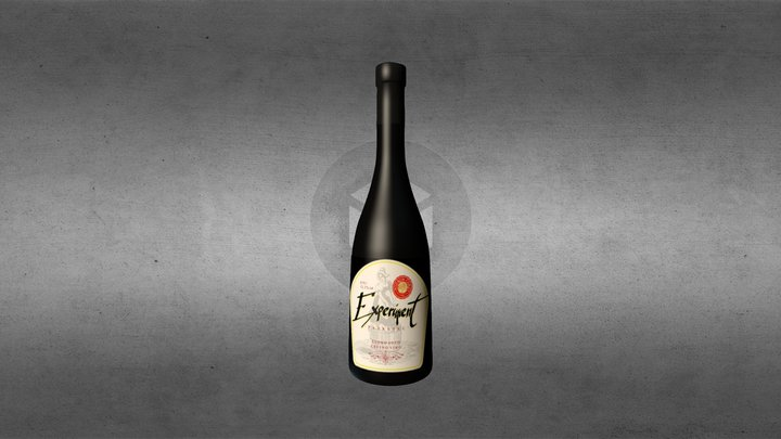wine bottle experiment prokupac 3D Model