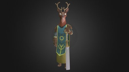Stag Knight 3D Model