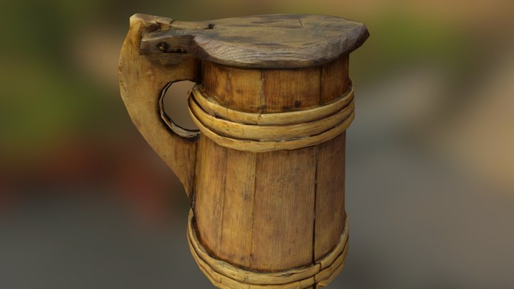 Mary Rose Tankard - Low Poly 3D Model
