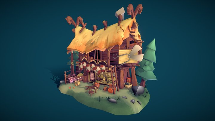 DAE Villages - Ulf's Viking Stylist Salon 3D Model