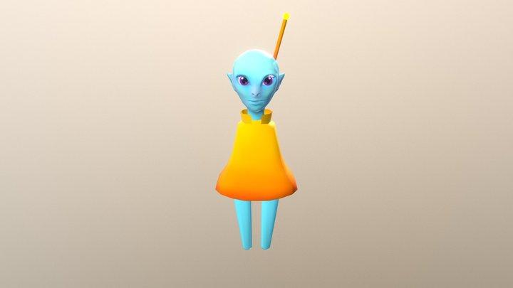 Alien Boy 3D Model