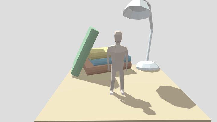 LowPoly Clay Man 3D Model