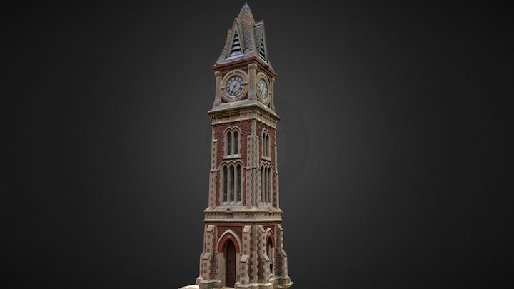 Newmarket, Suffolk, UK - Jubilee Clock Tower 3D Model