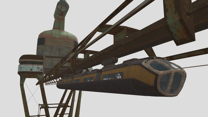Fallout: Monorail + Station 3D Model