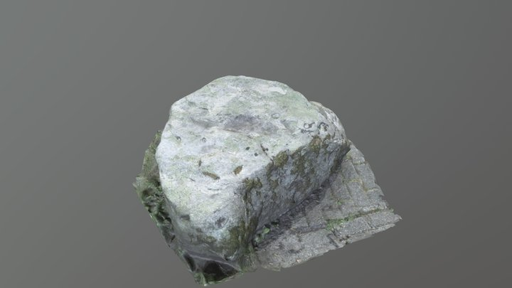 Stone in a Park 3D Model