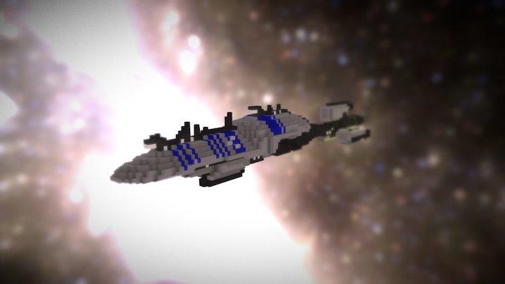 Star Wars - Recusant-Class Cruiser (voxel) 3D Model