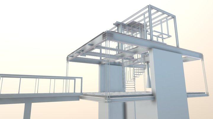 ESTRUCTURA METÁLICA KIOSKO - SUBACHOQUE 3D Model