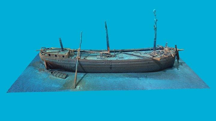 Cornelia B Windiate Shipwreck 1875 3D Model