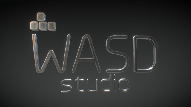 Wasd Studio Logo 3D 3D Model