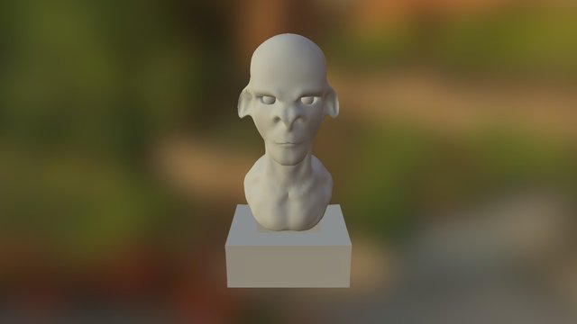 Creature With Base 3D Model