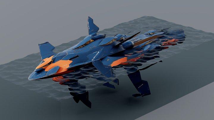 Procedural Hard Surface Modeling Test 15.005 3D Model