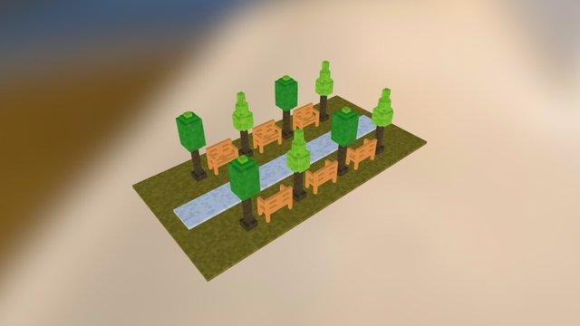 Little Park 2 3D Model