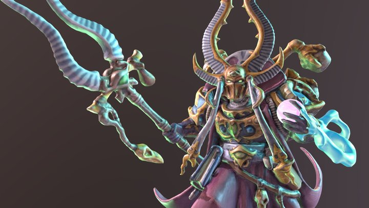 Ahriman of the Thousand Sons 3D Model