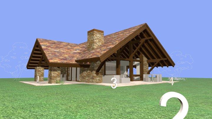 Casa Marta B. manuel monroy pagnon, arquitecto. 3D Model