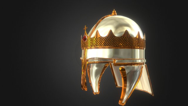 Anglo Saxon Helmet 3D Model