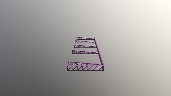 Pergolado metálico 3D Model
