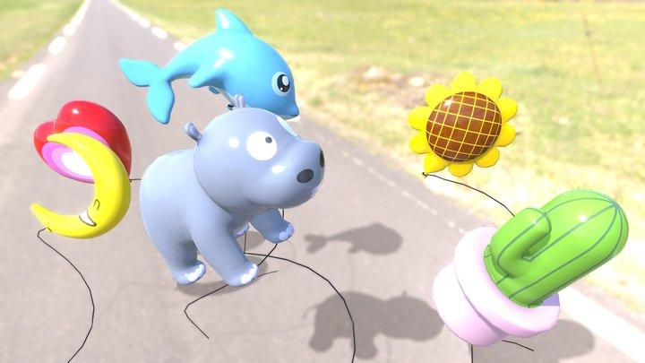 balloon character 3D Model