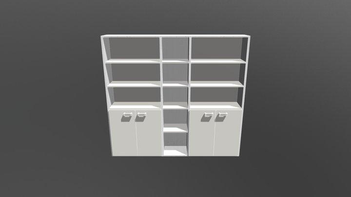 Libreria ufficio personalizzata 3D Model