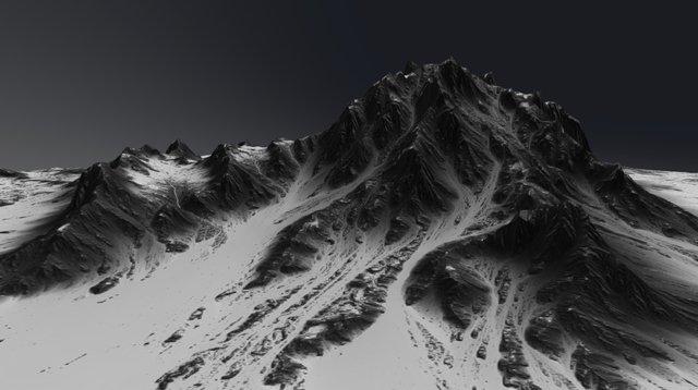 WorldMachine - Snowy Cliffs 3D Model