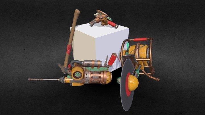 Tool set - Cave Digger 3D Model