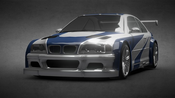 BMW M3 (NFS version) 3D Model