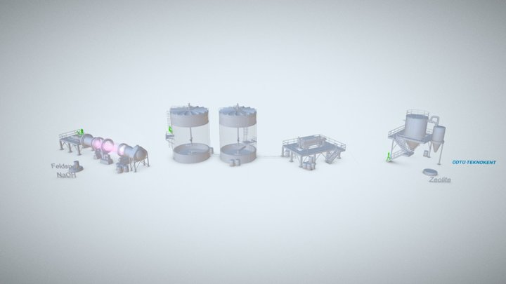 P1 Industrial Animation 3D Model
