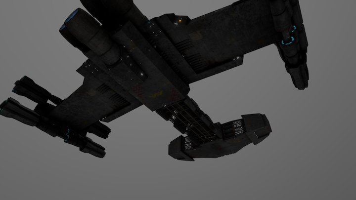 Old SC1 battlecruiser model 3D Model