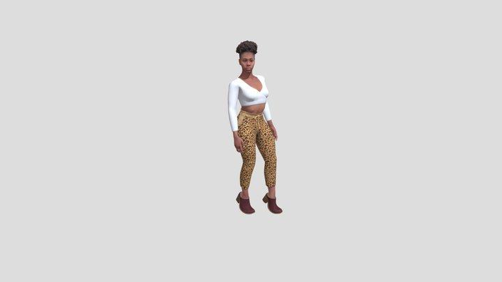 Spatial Female Model Tiana Fashion Pose 3D Model