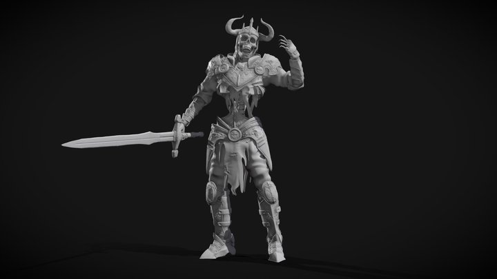 Undead Knight 3D Model