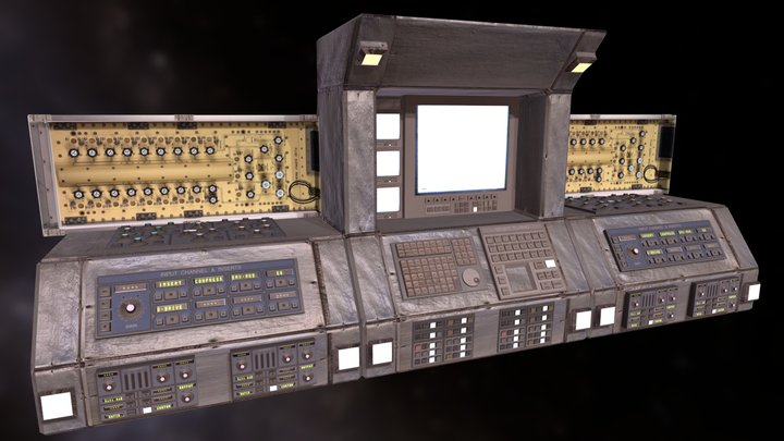 Computer Retro Super Machine PBR Electronics 3D Model
