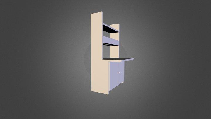Desk and shelf 3D Model