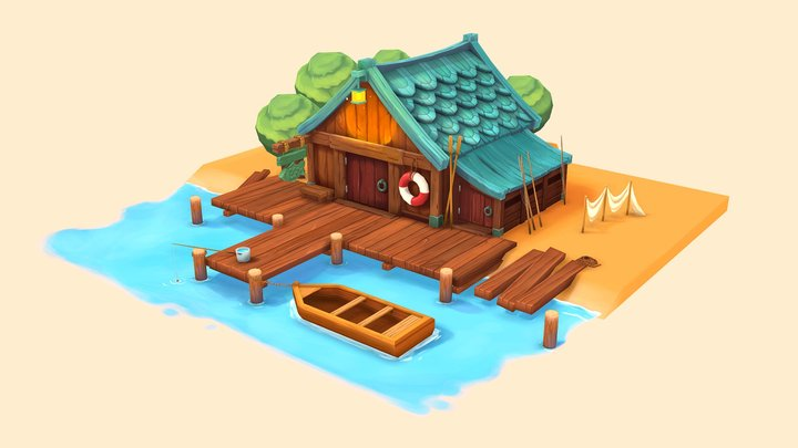 Fisherman's House 3D Model