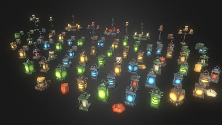Lantern Mega Pack V2 3D Model