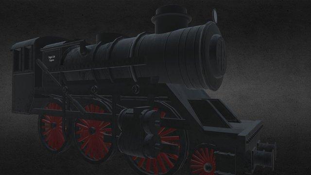 Steam Train 3D Model