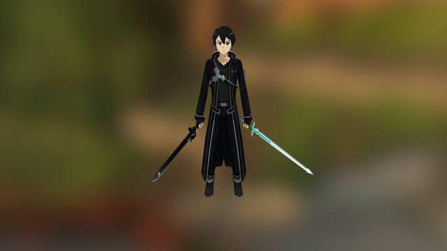 Kirito (Sword Art Online) 3D Model