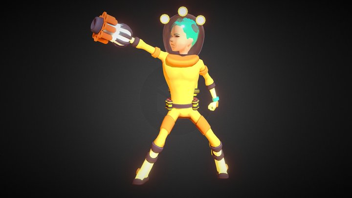 ASTRO - Stylized Sci-Fi Character 3D Model