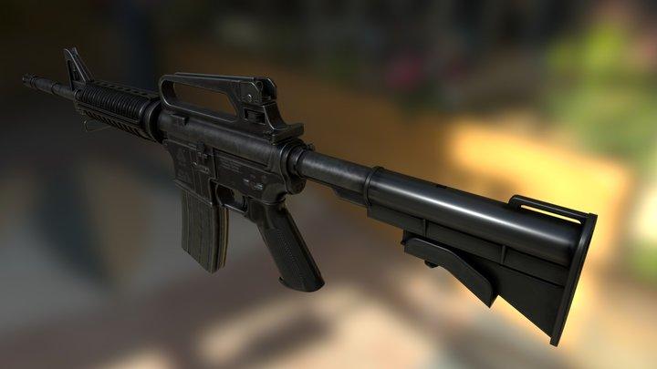Colt Model 727 Government Carbine 3D Model