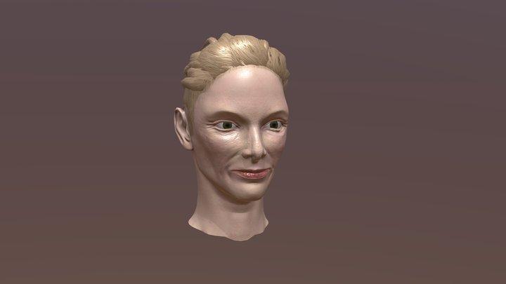 Tilda Swinton Likeness Sculpt 3D Model
