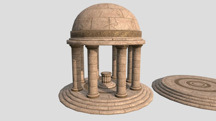 Ancient Greek Temple - Trim Sheet Texture 3D Model