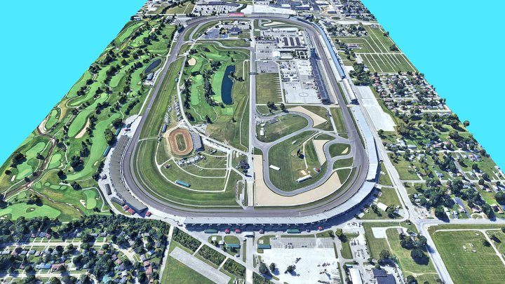 Indianapolis Motor Speedway 3D Model