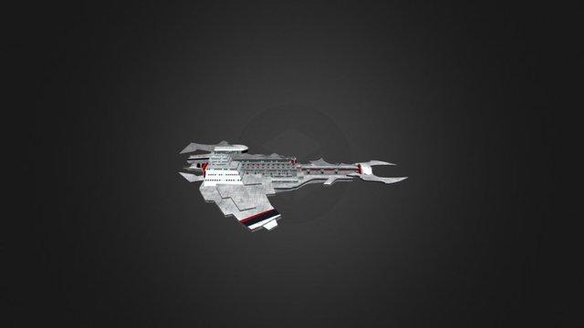 Class 12 Light Cruiser: Seraph 3D Model